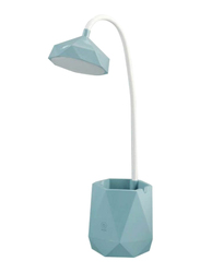 UK Plus Touch-Sensitive Flexible Table Lamp with Multi-Light Stationery & Mobile Holder, Blue