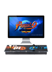 UK Plus KidKit Box 9 Multiplayer Joystick and Buttons Arcade Console, With 1502 Retro Classic Video Games Advanced CPU, Compatible with HDMI, Black