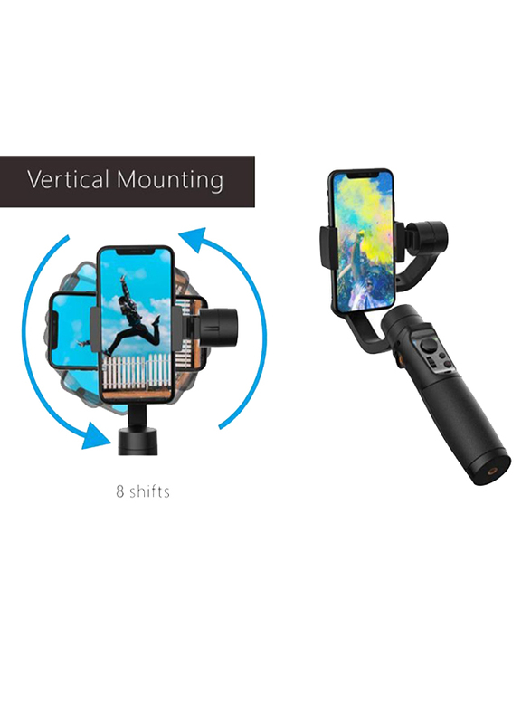 UK Plus 3-Axis Gimbal Stabilizer for Smartphones, Black