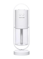 UK Plus Mini Portable Humidifier, Aroma Diffuser, with USB Charge and Eye Friendly Multi-Light Night, White
