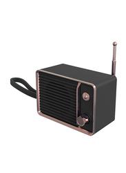 UK Plus Wireless Bluetooth Speaker with Built-In Battery, Black