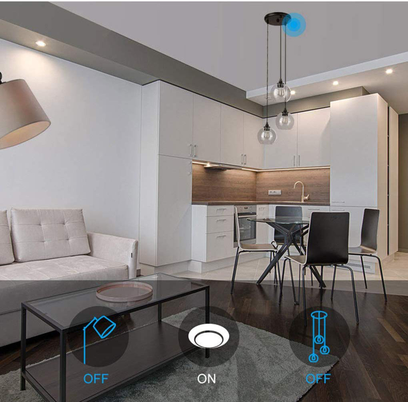 Sonoff Wi-Fi Home Automation Wireless Smart Wall Light with Standard 1 Gang Switch, White
