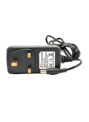 UK Plus Power Supply Adapter, 2A 3 Pin for Household Electronics, Routers, Speakers, CCTV Cameras, Smartphones, USB Charging Devices, Black