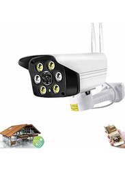 UK Plus Outdoor 1080P WiFi/Wireless Security Surveillance IP66 Waterproof IP Camera, White