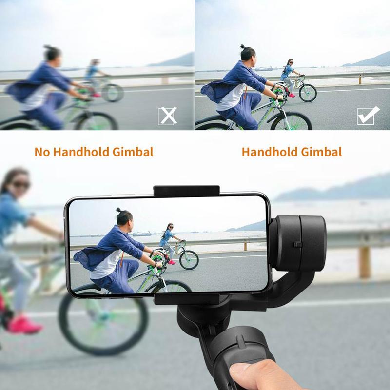 UK Plus 3-Axis Handheld Gimbal Stabilizer for Smartphones, Black