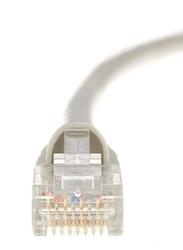 UK Plus 15-Meter Ethernet LAN Network RJ45 Cable, RJ45 Male to RJ45, CAT-6, Patch, White