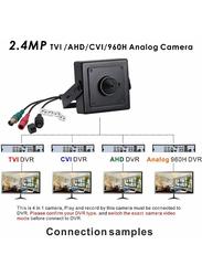 UK Plus Full HD Super CCTV Color Image Miniature Security Camera, 2.4MP, Black