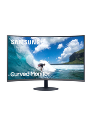 Samsung 27 Inch FHD 1000R Bezel-Less Ultra Curved LED Gaming Monitor with Speaker, LC27T550FDMXUE, Black