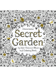 Secret Garden an Inky Treasure Hunt and Coloring Book, Paperback Book, By: Johanna Basford, Black/White