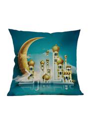 Ameteer Fashion Festive Moon & Castel Design Pillow Cover, Sea Green/Blue