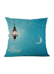 Ameteer Fashion Festive Moon & Lamp Design Pillow Cover, Sea Green/Blue