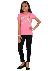 Genius Short Sleeve Graphic Printed T-Shirt for Girls, 11-12 Years, Rose Pink