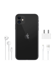 Apple iPhone 11 64GB Black, With Facetime, 4GB RAM, 4G LTE, Smartphone