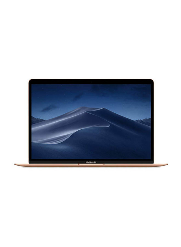 Apple MacBook Air, 13.3 inch Retina Display, Intel Dual Core i5 8th Gen 1.6GHz, 512GB SSD, 16GB RAM, Intel UHD Graphics 617, macOS, English KB with Touch Bar/ID/Trackpad, MUQV2 LL/A, Gold