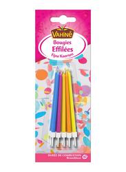 Vahine Accessories Design Candles, 20g, Blue/Pink/Yellow/Orange