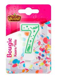 Vahine Number 7 Birthday Candles, 30g, White/Green