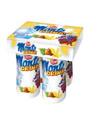 Zott Monte Vanilla Milk Drink, 4 Bottles x 95ml