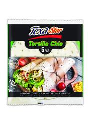 Texa Star 25 inch Wheat Chia Tortilla, 6 Pieces