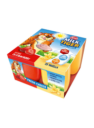 Zott Milk Tiger Strawberry & Vanilla Fresh Cheese, 4 Portions x 50g