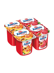Zott Zottis Low Fat Assorted Fruit Yogurt, 4 Portions x 115g
