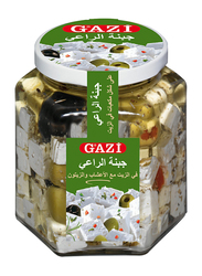 Gazi 45% Soft Cheese Cubes in Oil with Herbs and Olives, 300g