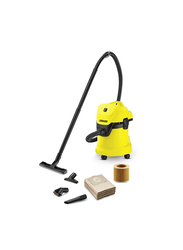 Karcher Wet & Dry Vacuum Cleaner, 17L, WD3, Yellow/Black