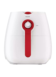 Philips Daily Collection Air Fryer with Rapid Air, 1425W, HD9217, White/Red