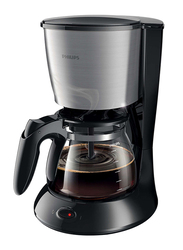 Philips Electric Glass Coffee Maker, 1000W, HD7457, Black