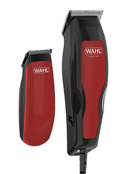 Wahl Home Pro 100 Hair Clipper + Trimmer Combo, Red/Black