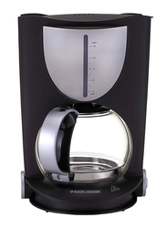 Black+Decker 12 Cup Coffee Maker, with Glass Carafe, 1050W, DCM80, Black