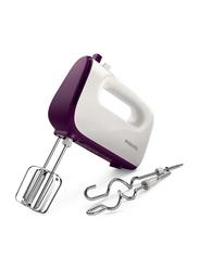 Philips Hand Mixer, 450W, HR3740, White/Purple