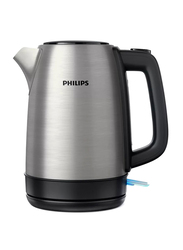 Philips 1.7L Daily Collection Electric Stainless Steel Kettle, 1850-2200W, HD9350, Silver