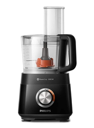 Philips Viva Collection Compact Food Processor, 800W, HR7510, Black