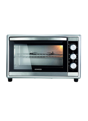 Kenwood 45L Double Glass Door Electric Oven with Rotisserie, 1800W, MOM45, Silver/Black