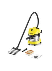 Karcher Wet & Dry Vacuum Cleaner, 20L, WD4 Premium, Yellow/Black