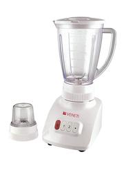 Veneti 2-in-1 Blender with Plastic Jar, 400W, VI-608BL, White