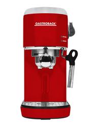 Gastroback Design Espresso Piccolo Coffee Machine, 1400W, 42719, Red