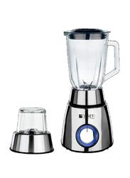 Veneti 2-in-1 Blender with Glass Jar, 400W, VI-08BL, Silver