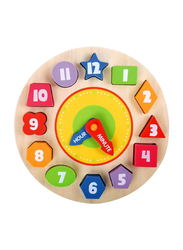 Tooky Toy Wooden Clock Puzzle, TKA414-B