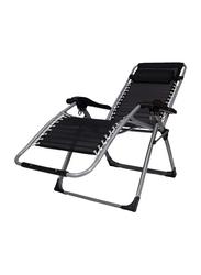 BJM Foldable Adjustable Reclining Chair, Black
