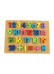Webby 26-Piece Wooden Numbers Puzzle Toy