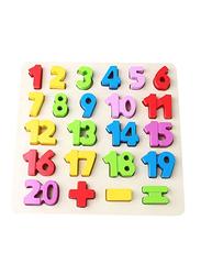 24-Piece Numbers Alphabet Wooden Puzzle