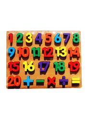 26-Piece Numbers Wooden Educational Baby Toddler Puzzle Board