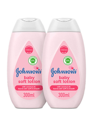 Johnson's Baby 2-Pieces 300ml Soft Body Lotion for Babies