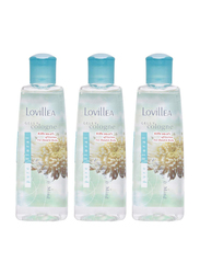 Lovillea 3-Piece Pure Floral Gelly Perfume Set for Women, 200ml EDC