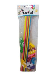 Sarvah Balloons with Stick, 12 Pieces, Ages 3+