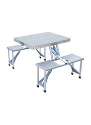 Vida Home Picnic Table, Silver