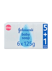 Johnson's Baby 6-Pieces 125g Soap for Babies