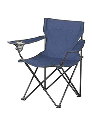 Foldable Chair, Blue/Black