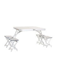 Oztrail Foldable Chair and Table Set, Silver